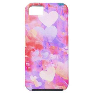 Capa Tough Para iPhone 5 Corações da cor de água