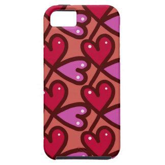 Capa Tough Para iPhone 5 Corações sem emenda #2