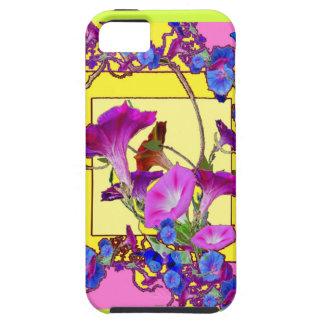 Capa Tough Para iPhone 5 Corriolas cor-de-rosa do azul da arte