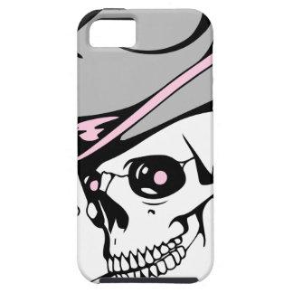 Capa Tough Para iPhone 5 crânio cor-de-rosa do olho