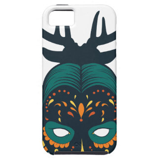 Capa Tough Para iPhone 5 crânio da menina com antin dos cervos