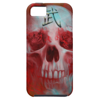 Capa Tough Para iPhone 5 Crânio do Kanji do guerreiro