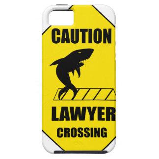 Capa Tough Para iPhone 5 Cruzamento do advogado com tubarão
