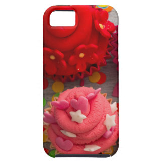 Capa Tough Para iPhone 5 cupcakes coloridos