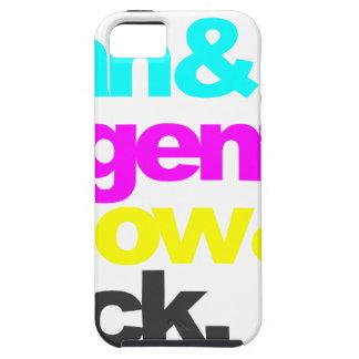 Capa Tough Para iPhone 5 Cyan and Magenta and Yellow and Black
