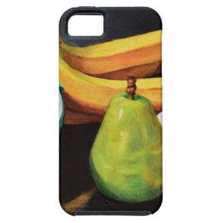 Capa Tough Para iPhone 5 Da banana de Apple da pera vida ainda