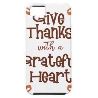 Capa Tough Para iPhone 5 Dê obrigados com um coração grato