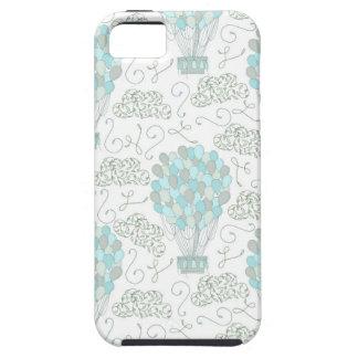 Capa Tough Para iPhone 5 Decoração do berçário do azul de turquesa dos