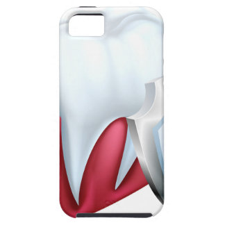 Capa Tough Para iPhone 5 Dente e goma do protetor