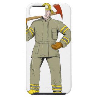 Capa Tough Para iPhone 5 Desenho americano do machado do fogo do