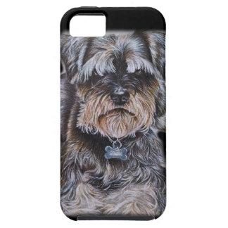 Capa Tough Para iPhone 5 Desenho da arte do cão de Terrier