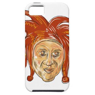 Capa Tough Para iPhone 5 Desenho da cabeça do bobo da corte da corte