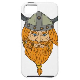 Capa Tough Para iPhone 5 Desenho da cabeça do guerreiro de Viking do