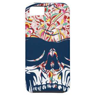 Capa Tough Para iPhone 5 design colorido do crânio zombi inoperante