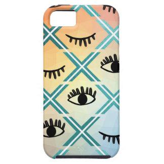 Capa Tough Para iPhone 5 Design colorido original dos olhos