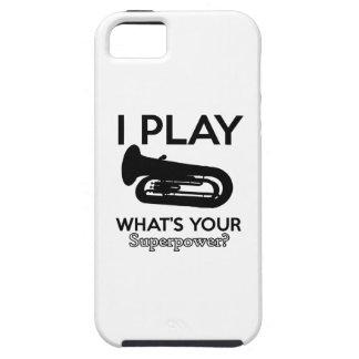 Capa Tough Para iPhone 5 design da tuba