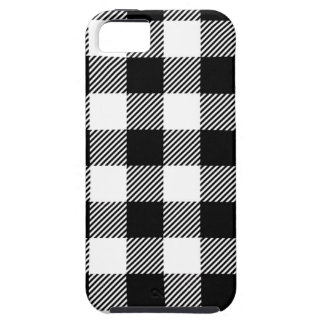 Capa Tough Para iPhone 5 Design exterior preto e branco da arte do teste