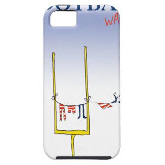 Capa Tough Para iPhone 5 Dia da lavagem do futebol, fernandes tony