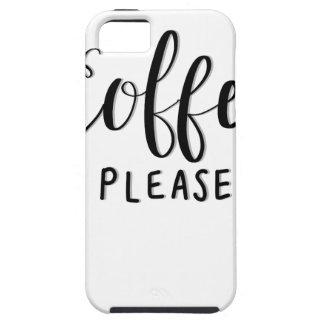 Capa Tough Para iPhone 5 Do CAFÉ caligrafia POR FAVOR