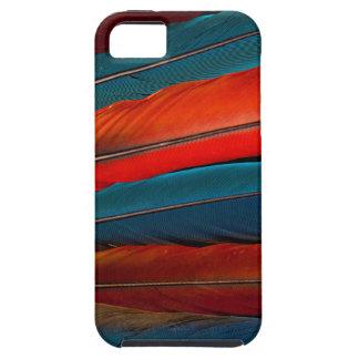Capa Tough Para iPhone 5 Do Macaw escarlate de penas de cauda