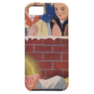 Capa Tough Para iPhone 5 Do Natal polonês de Wesołyeh Świąt do vintage arte
