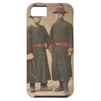 Capa Tough Para iPhone 5 Dois homens chineses em combinar o vestido