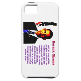 Capa Tough Para iPhone 5 E contanto que povos livres - Barack Obama