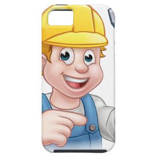 Capa Tough Para iPhone 5 Eletricista dos desenhos animados que guardara a