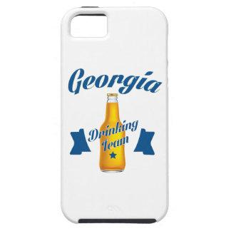 Capa Tough Para iPhone 5 Equipe do bebendo de Geórgia