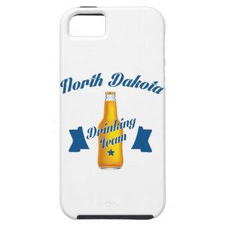 Capa Tough Para iPhone 5 Equipe do bebendo de North Dakota