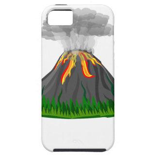 Capa Tough Para iPhone 5 erupção do fogo do vulcão