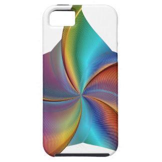 Capa Tough Para iPhone 5 Estrela de roda de prisma colorido do arco-íris