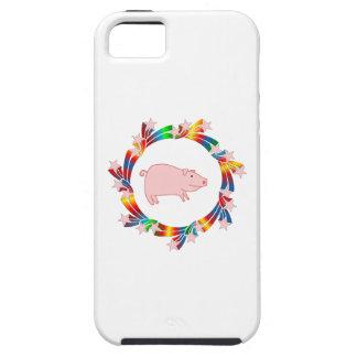 Capa Tough Para iPhone 5 Estrelas do porco