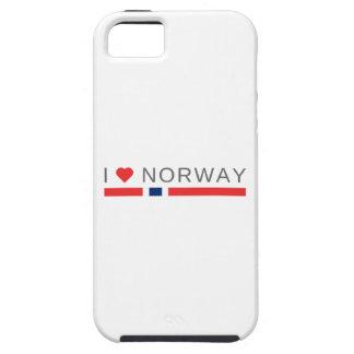 Capa Tough Para iPhone 5 Eu amo Noruega