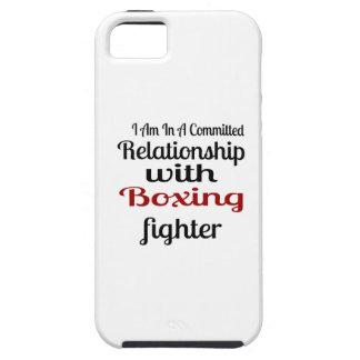 Capa Tough Para iPhone 5 Eu estou em uma relação cometida com luta do