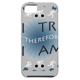 Capa Tough Para iPhone 5 Eu tri conseqüentemente mim sou Triathlon