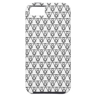 Capa Tough Para iPhone 5 Falluminati Onix preto pelo lagarto de Umberto
