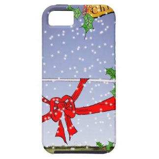 Capa Tough Para iPhone 5 fan de futebol do Natal feliz