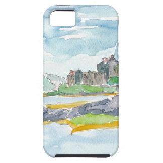Capa Tough Para iPhone 5 Fantasia das montanhas de Scotland e castelo de