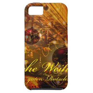 Capa Tough Para iPhone 5 Feliz Natal uma escorregadela boa no ano novo