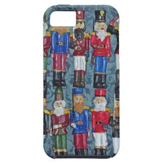 Capa Tough Para iPhone 5 Figuras do natal vintage, soldados idosos