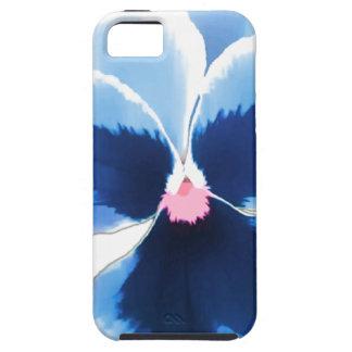 Capa Tough Para iPhone 5 Flor azul 201711c do amor perfeito