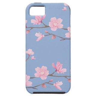 Capa Tough Para iPhone 5 Flor de cerejeira - azul da serenidade