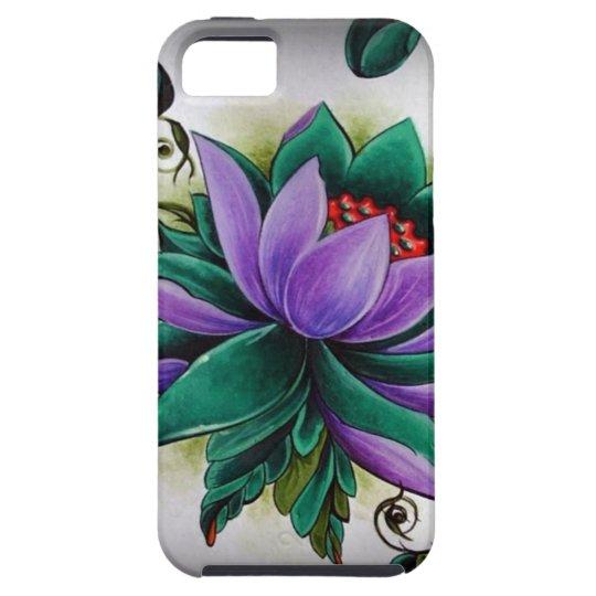 Capa Tough Para iPhone 5 flor de lótus