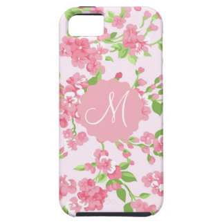 Capa Tough Para iPhone 5 Flores bonitas do pêssego da aguarela do rosa do