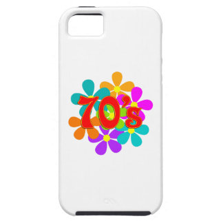 Capa Tough Para iPhone 5 Flores dos anos 70 do divertimento