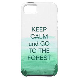 Capa Tough Para iPhone 5 Floresta, argumento folklive, esmeralda para