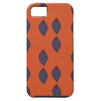 Capa Tough Para iPhone 5 Folhas do design. Ethno dos elementos do design