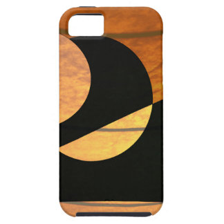 Capa Tough Para iPhone 5 Fulgor dos planetas, preto e cobre, design gráfico