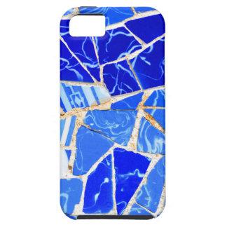 Capa Tough Para iPhone 5 Fundo azul abstrato